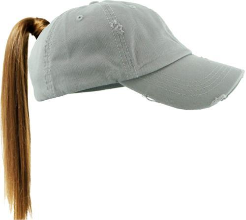 KBETHOS PONY-001 LGY Ponytail Messy High Bun Headwear Adjust