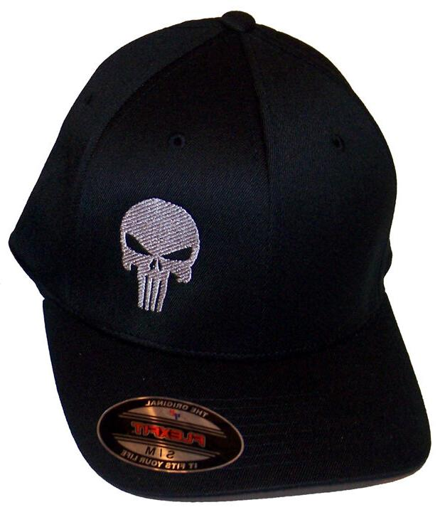 PUNISHER FLEXFIT HAT EMBROIDERED flex fit ball gun sniper ca