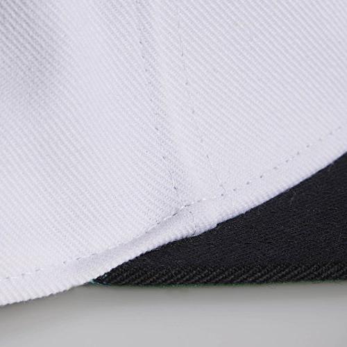 adidas Men's Snapback Flat Cap, White/Black,
