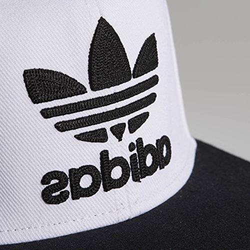 adidas Originals Snapback Brim Cap, White/Black, Size