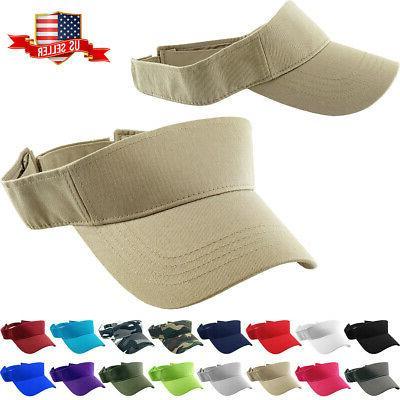 Sun Visor Plain Hat Sports Cap Golf Tennis New Adjustable Me