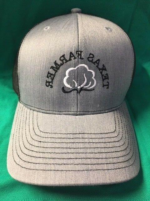 TEXAS COTTON FARMER RICHARDSON 112 HEATHER GREY BLACK SNAP B