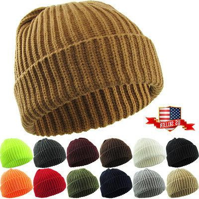 thick ribbed beanie knit ski cap skull
