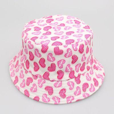 Toddler Girls Floral Beach Bucket Hats Sun Helmet