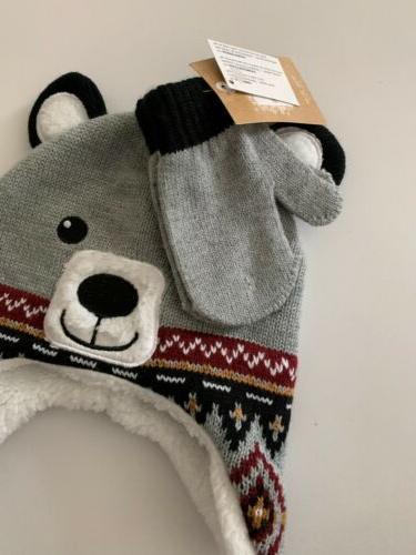 Toddler Boys Bear Sherpa Set Size 2T-4T Black