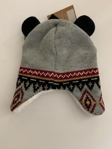 Toddler Sherpa Hat & Black Knit