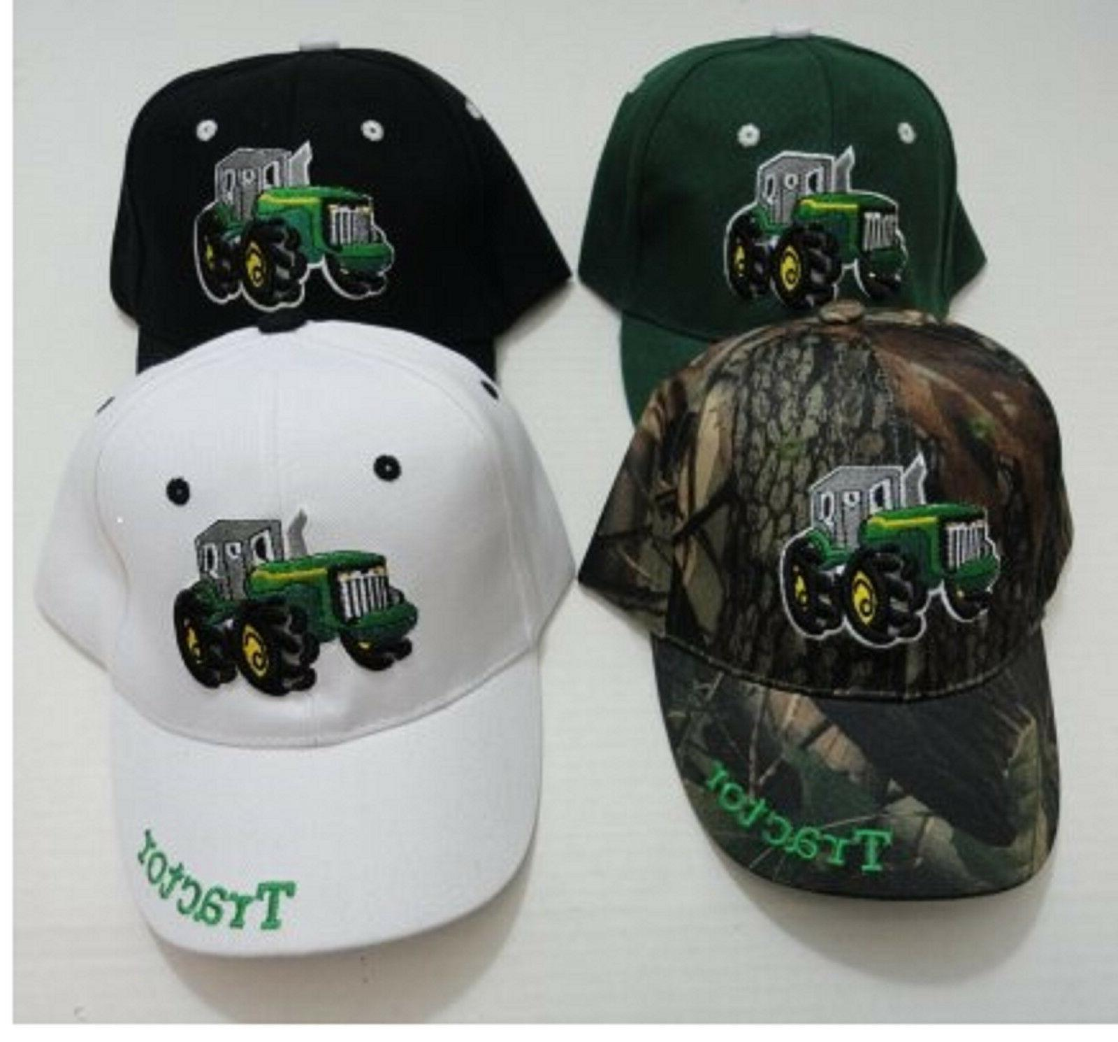 toddler embroidered tractor hat boys girls kids