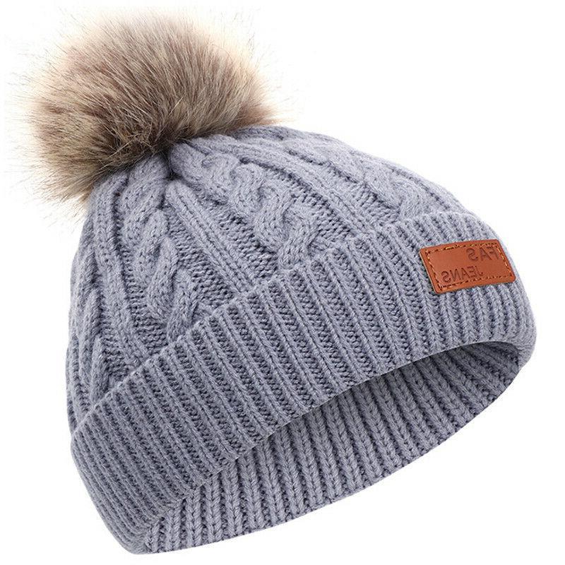 Toddler Baby Warm Hat Girl Pom