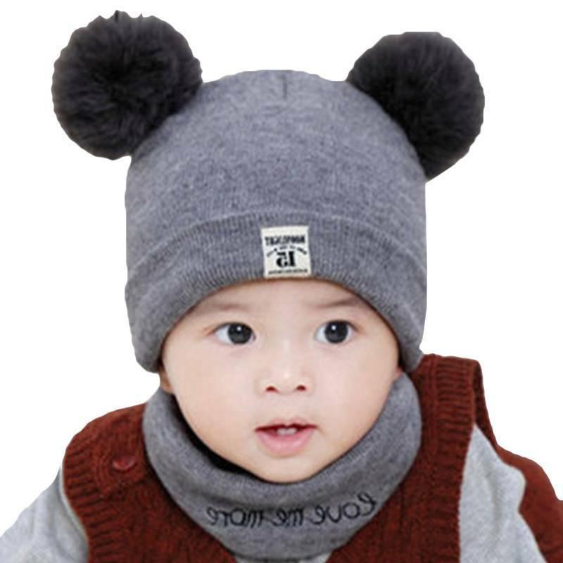 Toddler Kids Girl Baby Infant Crochet Knit Cap +
