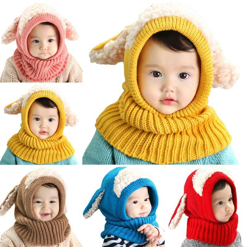 Toddler Infant Boys Girls Fur Pom Cap