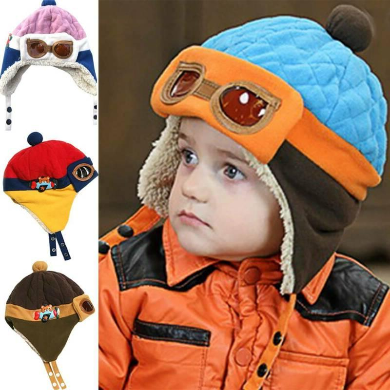 Toddler Kids Girls Knitted Fur Pom Cap