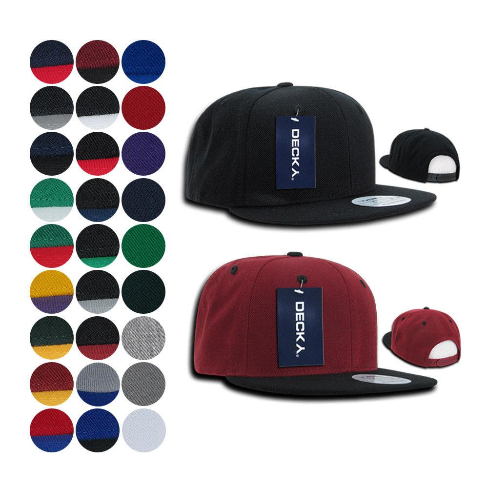 DECKY Trendy Flat Bill Snapback Baseball 6 Panel Caps Hats 4