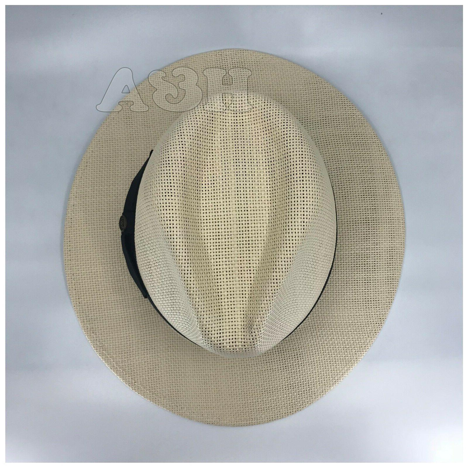 Epoch Mens Straw Brim Panama Hat