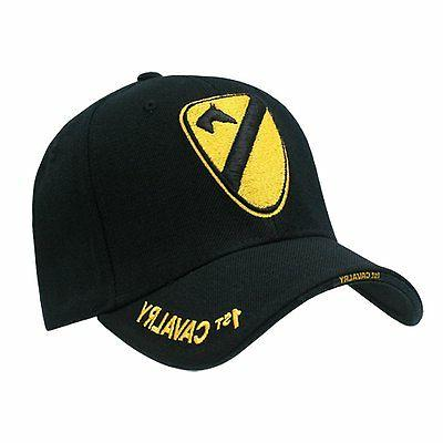 United States US Army 1st Cavalry Black Cap Caps Hat