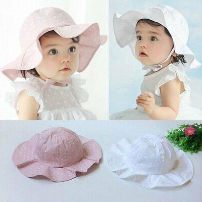 Toddler Baby Kid Girls Summer Outdoor Lovely Sun Hat Brim Bu