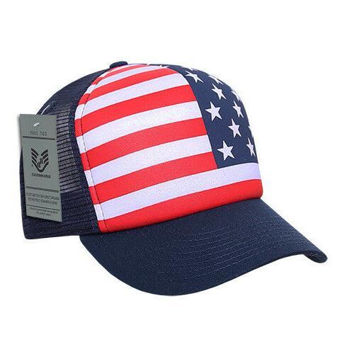 Rapid Dominance USA American Flag Graphic Foam Mesh Trucker