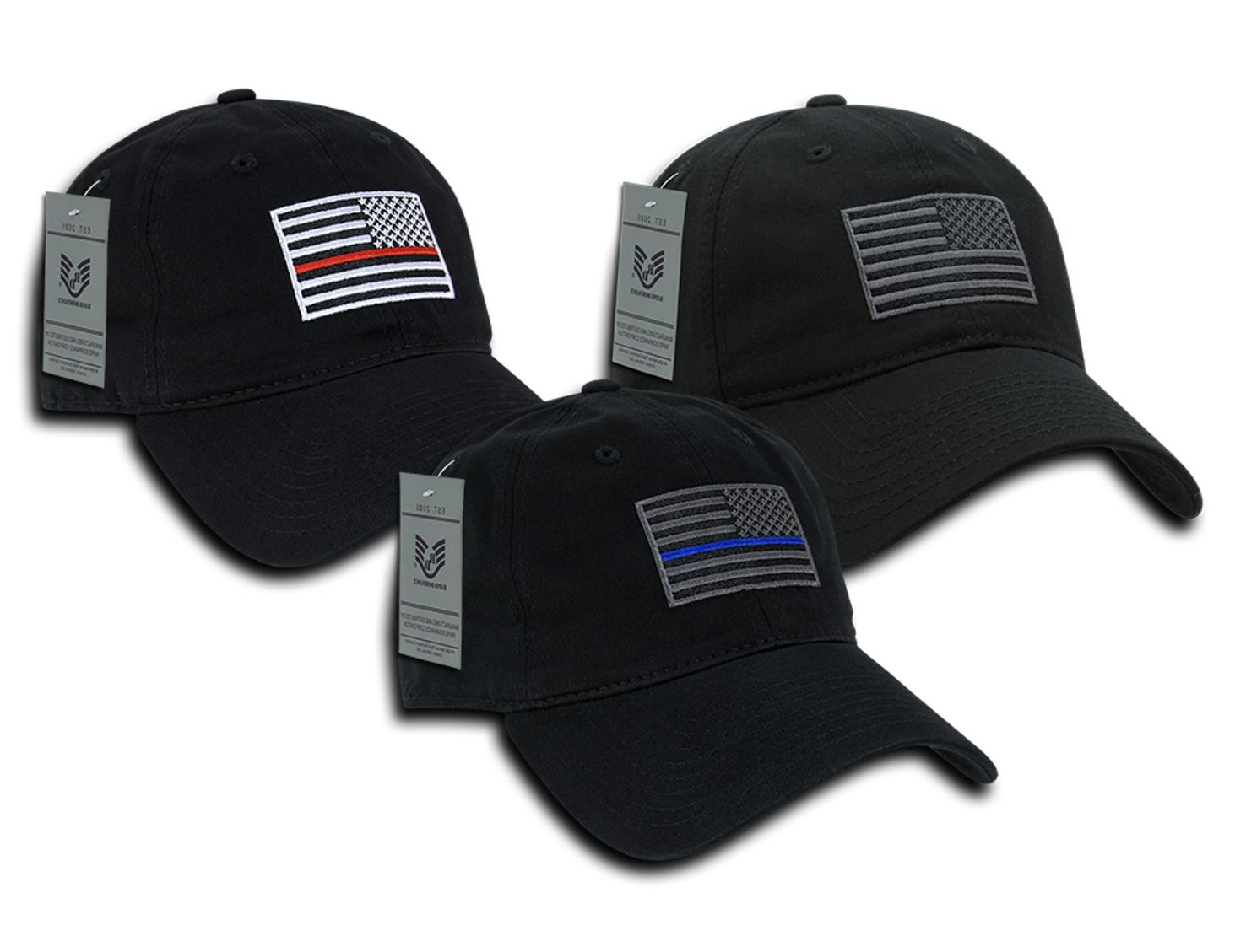 usa flag embroidered washed cotton baseball cap