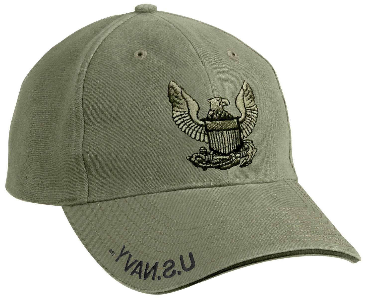 USA Navy Eagle Logo Low Profile Hat - Rothco OD Adjustable M