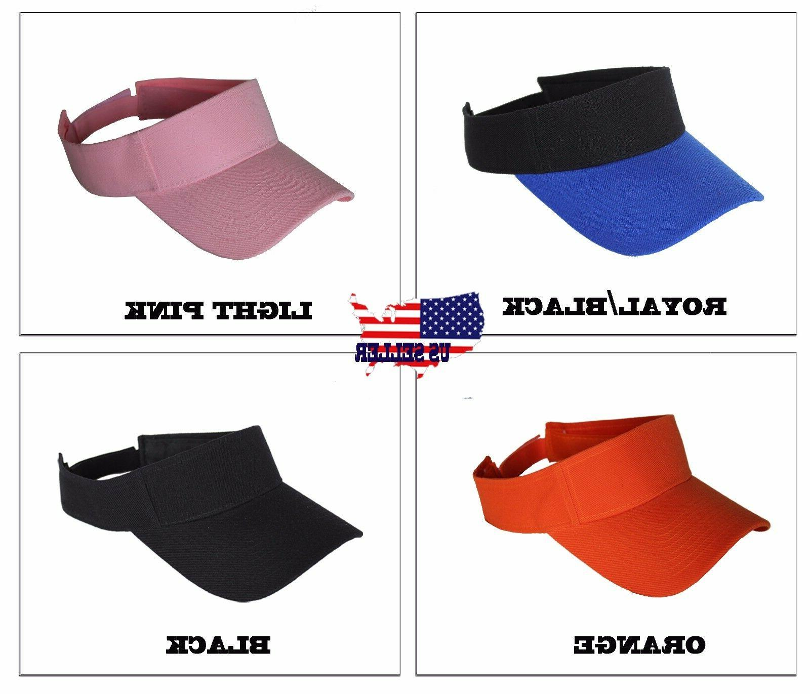 Visor Sun Plain Hat Sports Cap Colors Tennis Beach Women