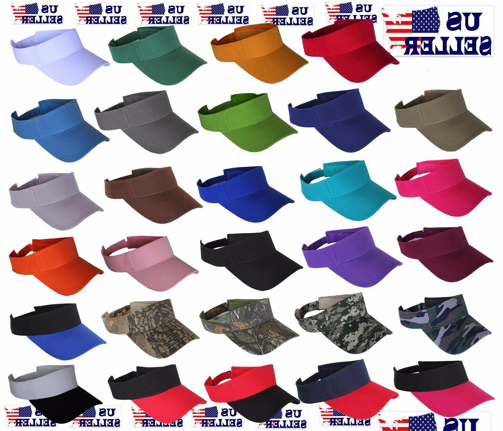 visor sun plain hat sports cap colors