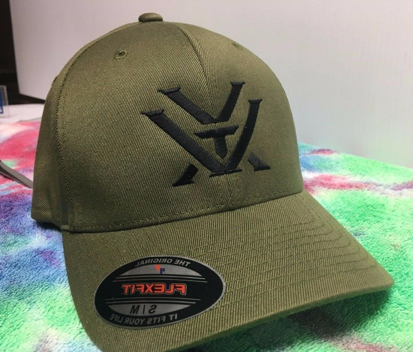 Vortex Optics Logo Embroidered Flexfit Ball Cap Hat Black, O