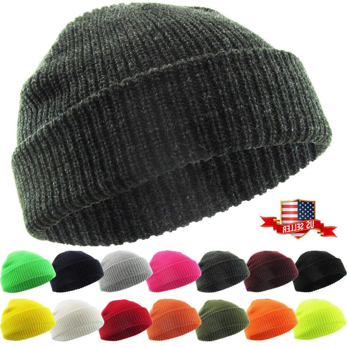 warm winter knit cuff beanie cap fisherman