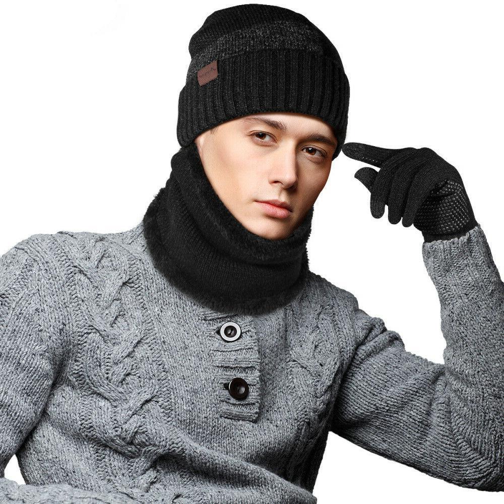 Winter Knit Touchscreen Gloves Women Warm Suit