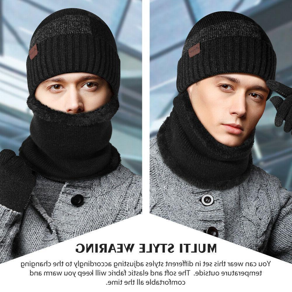 Winter 3 Knit Scarf Touchscreen Men Warm