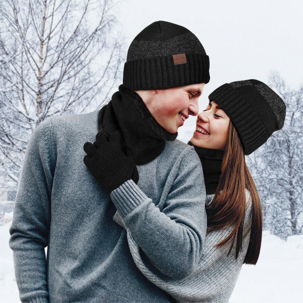 Winter 3 Piece Knit Touchscreen Warm