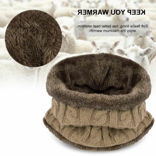 Winter Beanie Hat Scarf Set Fleece Warm Snow Tactical Cap Women