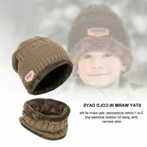 Winter Beanie Scarf Set Warm Balaclava Snow Cap Women