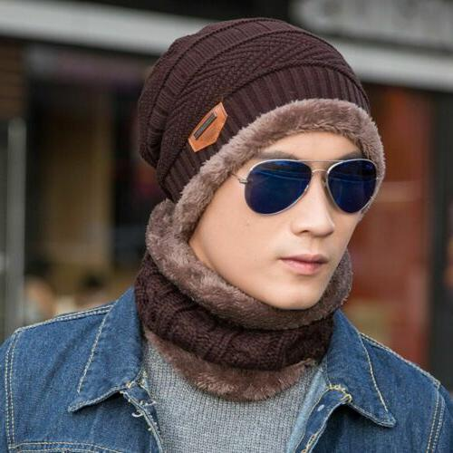 Winter Beanie Hat Set Fleece Snow Women