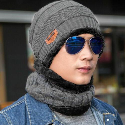 Winter Hat Scarf Set Fleece Warm Snow Women