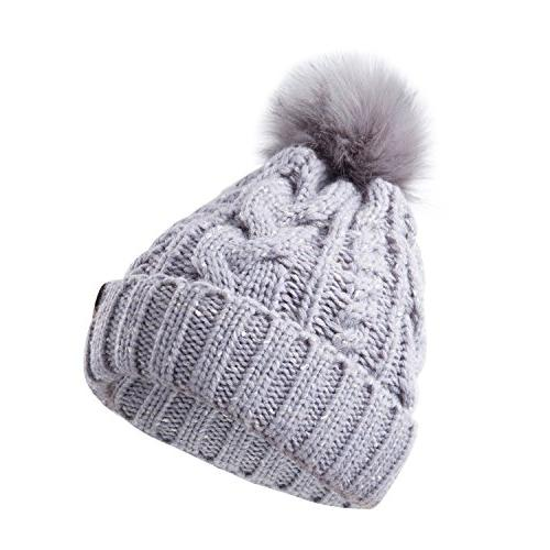 REDESS Women Winter Pom Warm Lined, Thick Slouchy Ski Cap