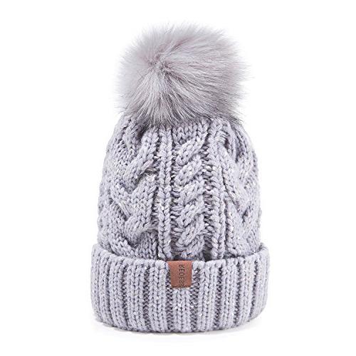 winter pom beanie hat
