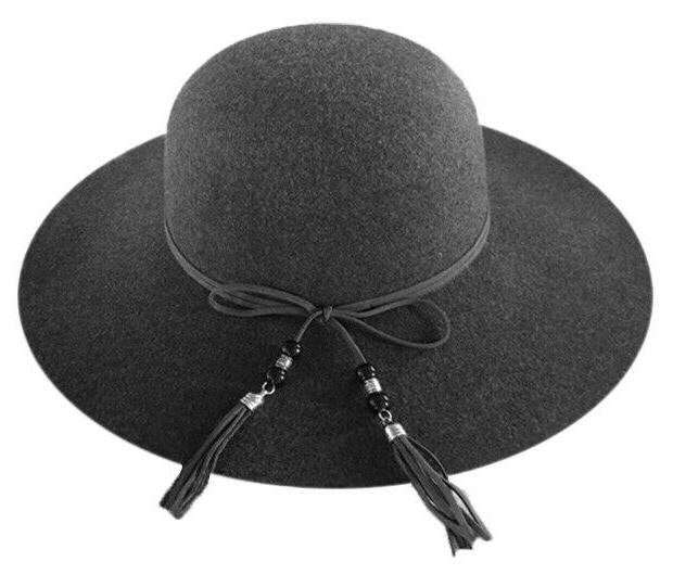 WOMAN'S POLYESTER FELT HAT W/ BEADED BAND