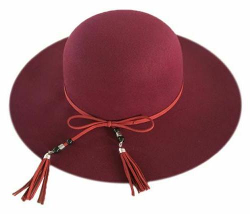 WOMAN'S HAT W/ LEATHER