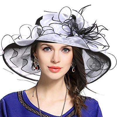 VECRY Church Derby Hats Tea Dress Wedding