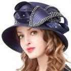 VECRY Women's Dressy Church Baptism Wedding Derby Hat