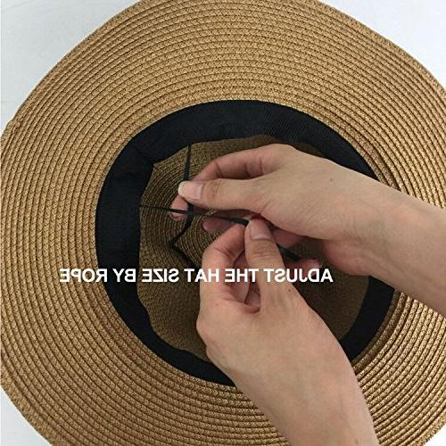 Lanzom Women Straw up Hat Fedora Hat One Size