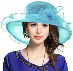 Lady Derby Dress Church Cloche Hat Bow Bucket Wedding Bowler