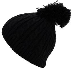 Best Winter Hats Little Girls Tight Cable Knit Skull Cap W/P