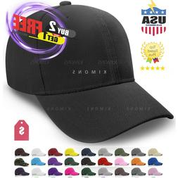 Loop Plain Baseball Cap Solid Color Blank Curved Visor Hat B