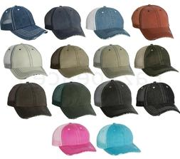 Mega Mens Low Profile Cotton Hat Mesh Ball Cap Herringbone U