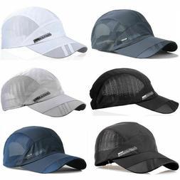 Men Outdoor Quick-drying Visor Caps Sport Cool Summer Runnin