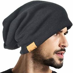 VECRY Men Oversized Slouch Beanie Large Skullcap Knit Hat