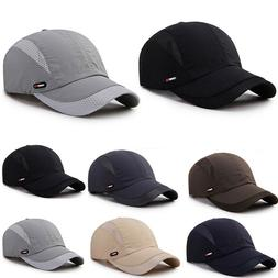 Men Plain Mesh Baseball Ball Dad Hat Adjustable Solid Breath