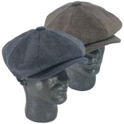 Men's 8 Panel Premium Wool Newsboy Applejack Paperboy Cabbie