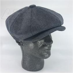Men's 8Panel Premium Wool Newsboy Applejack Paperboy Cabbie