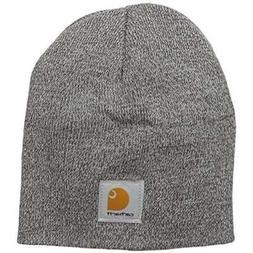 Carhartt Men's Acrylic Knit Hat, Heather Grey/Coal Heather,